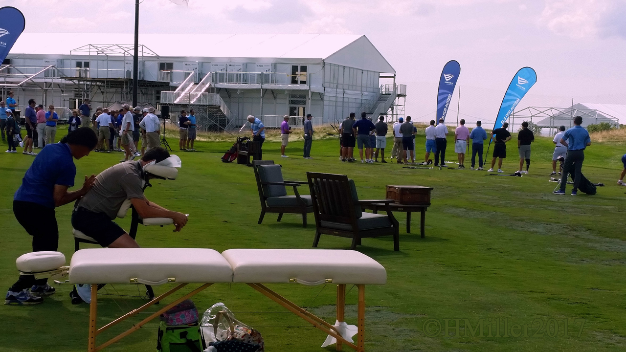 Chair Massage On The Range At The Golf Club