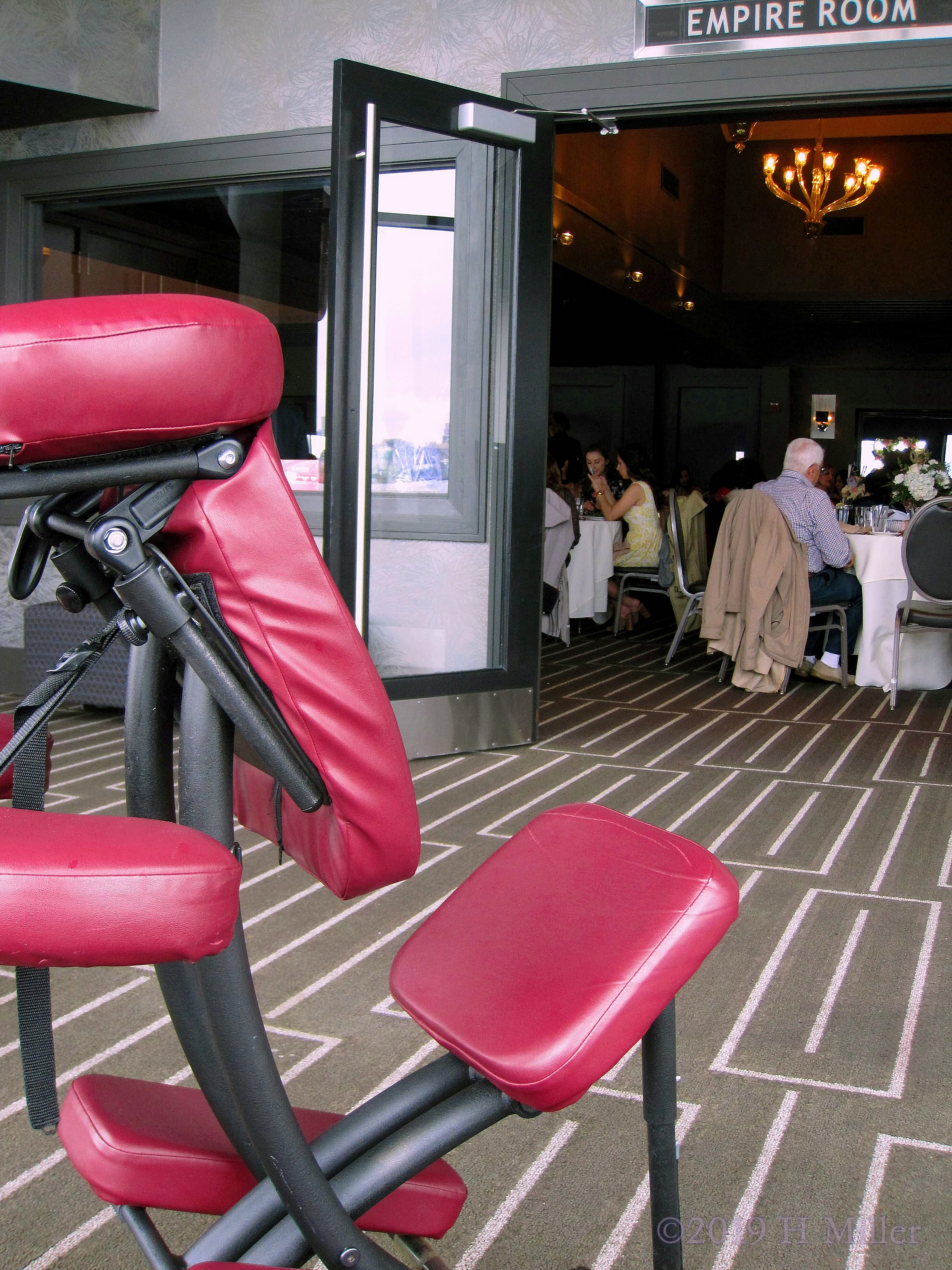 Chair Massage For The Bridal Shower Guests